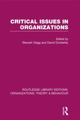 Critical Issues in Organizations (RLE: Organizations) (Routledge Library Editions: Organizations)