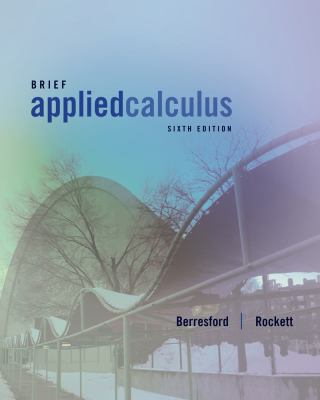 Applied Calculus, Brief 9781133103929