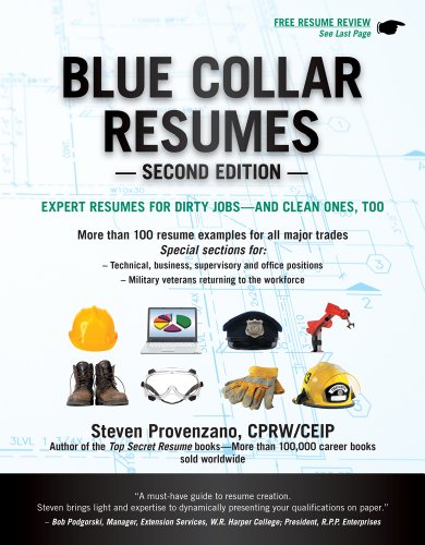 Blue Collar Resumes 9781133702627