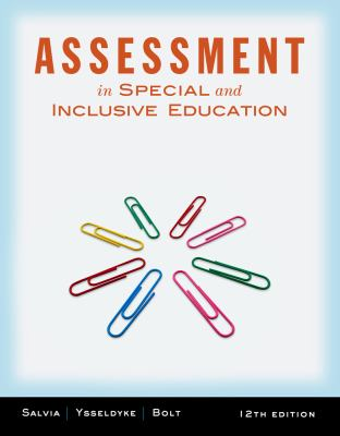 Cengage Advantage Books: Assessment: In Special and Inclusive Education 9781133307549