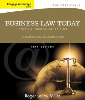 Cengage Advantage Books: Business Law Today: The Essentials 9781133191353