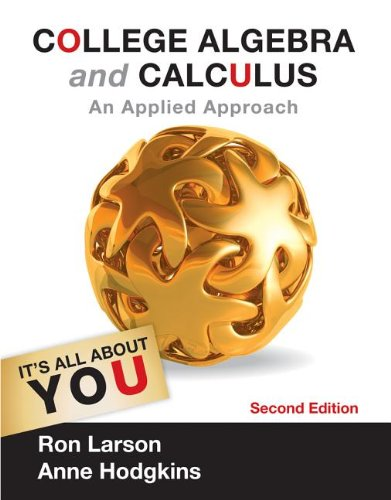 College Algebra and Calculus: An Applied Approach 9781133105060