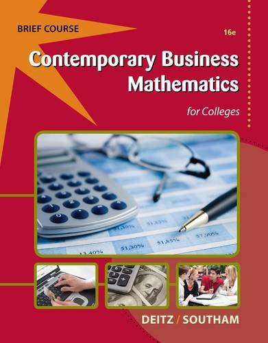 Contemporary Business Mathematics for Colleges, Brief [With Access Code] 9781133191148