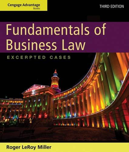 Fundamentals of Business Law: Excerpted Cases 9781133187806