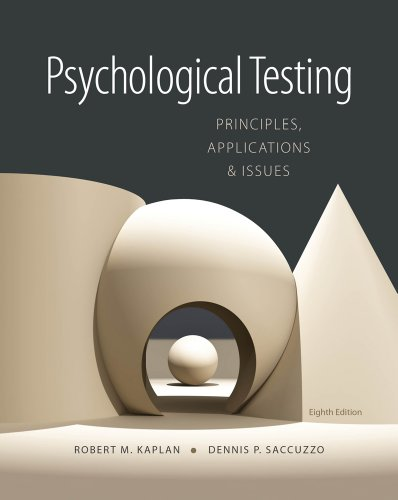Psychological Testing: Principles, Applications, and Issues 9781133492016