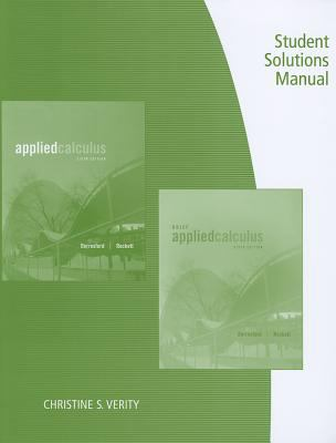 Student Solutions Manual for Berresford/Rockett's Applied Calculus, 6th 9781133104018