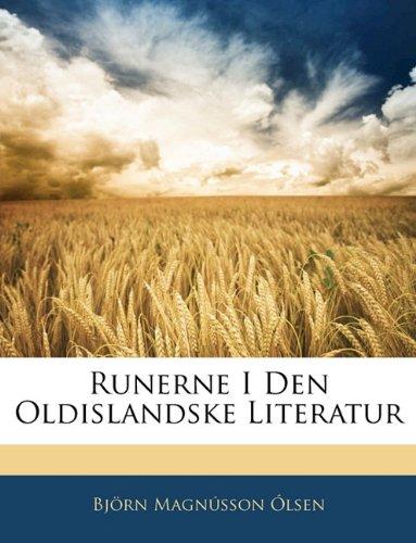 Runerne I Den Oldislandske Literatur 9781141256938