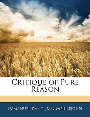 Critique of Pure Reason 9781142610432