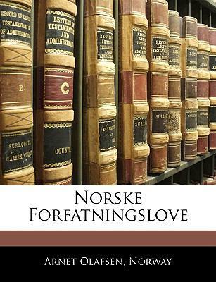 Norske Forfatningslove 9781144334114