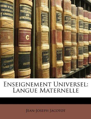 Enseignement Universel: Langue Maternelle 9781147303698