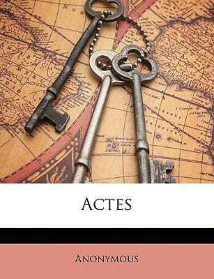 Actes 9781149963920