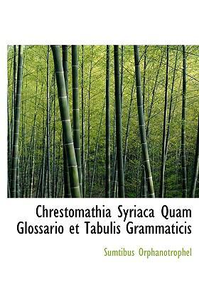 Chrestomathia Syriaca Quam Glossario Et Tabulis Grammaticis 9781140541035