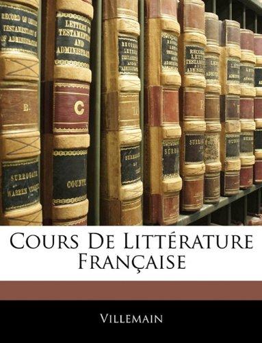 Cours de Litt Rature Fran Aise 9781142931513