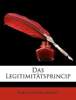 Das Legitimittsprincip 9781147833553
