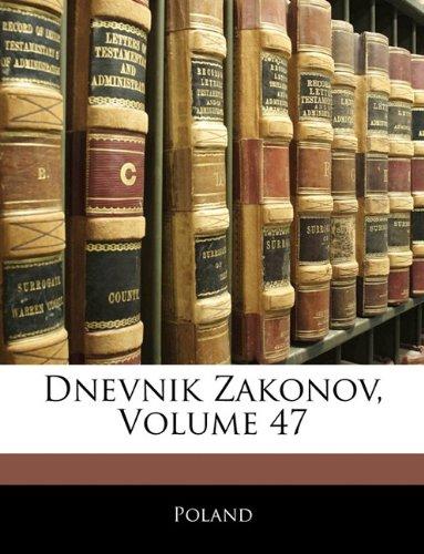 Dnevnik Zakonov, Volume 47 9781144283597