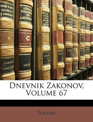 Dnevnik Zakonov, Volume 67 9781149234396