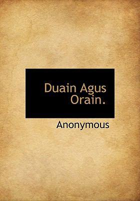 Duain Agus Orain. 9781140068693