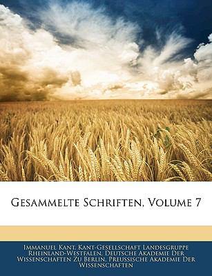 Gesammelte Schriften, Volume 7