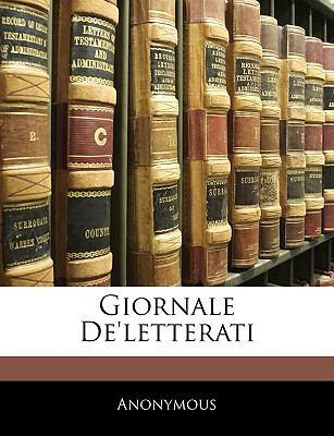Giornale de'Letterati 9781143289460