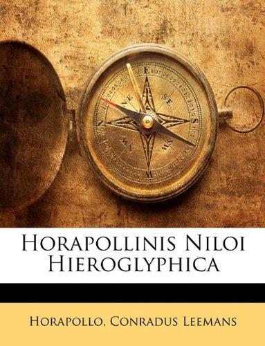 Horapollinis Niloi Hieroglyphica 9781143234071