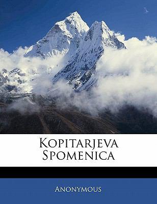 Kopitarjeva Spomenica 9781141641994