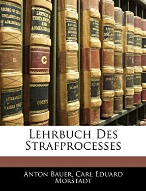 Lehrbuch Des Strafprocesses 9781142874735
