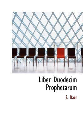 Liber Duodecim Prophetarum 9781140150497