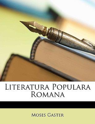 Literatura Populara Romana 9781148372570