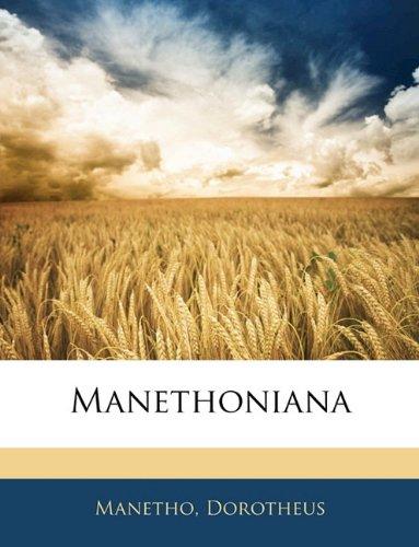 Manethoniana 9781141842704