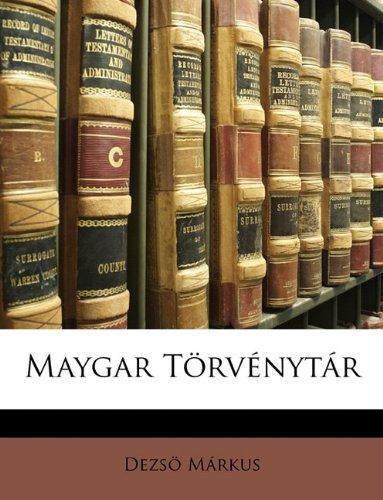 Maygar Trvnytr 9781146626071