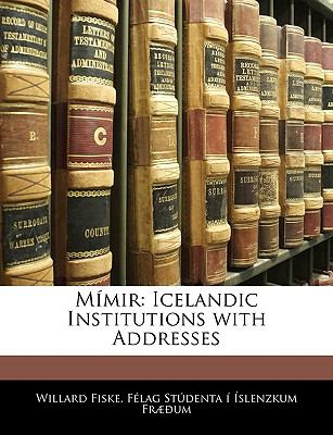 Mmir: Icelandic Institutions with Addresses 9781141406456