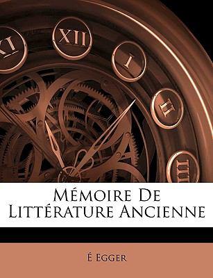 Mmoire de Littrature Ancienne
