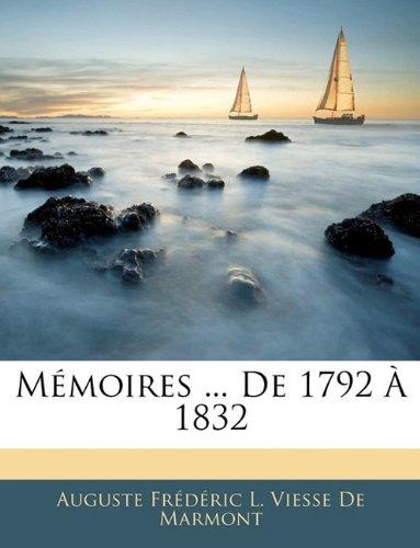 M Moires ... de 1792 1832 9781143144615