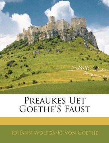 Preaukes Uet Goethe's Faust 9781141834129