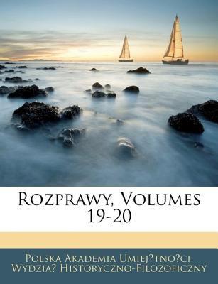 Rozprawy, Volumes 19-20 9781143230530