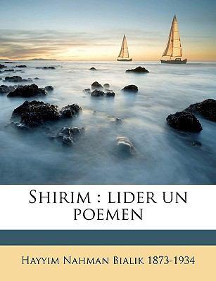 Shirim: Lider Un Poemen 9781149548714