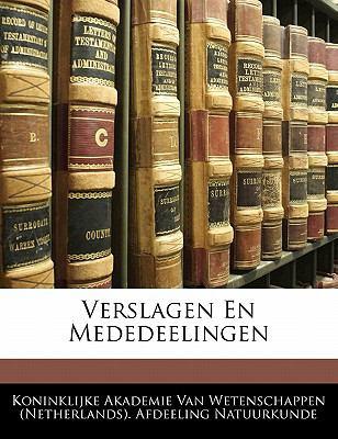 Verslagen En Mededeelingen 9781141199402