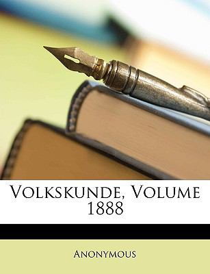Volkskunde, Volume 1888 9781148183169