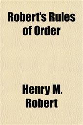 Robert's Rules of Order 9283273
