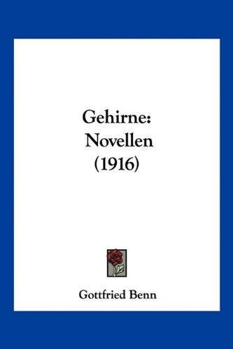 Gehirne: Novellen (1916) 9781160096812