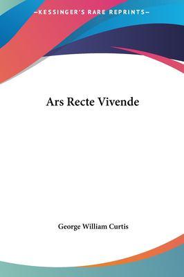 Ars Recte Vivende 9781161422306
