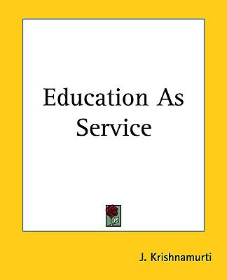 Education as Service 9781161429503