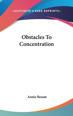 Obstacles to Concentration 9781161511833