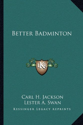 Better Badminton 9781163805831