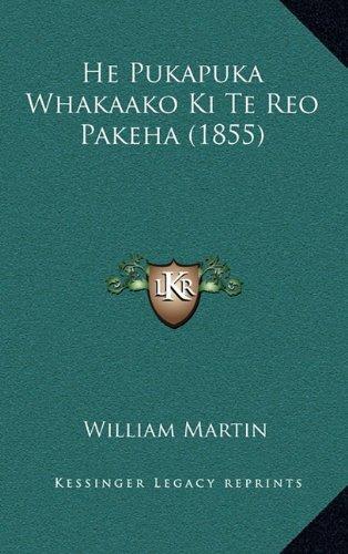 He Pukapuka Whakaako KI Te Reo Pakeha (1855)