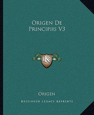 Origen de Principiis V3 9781162678009