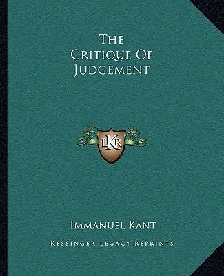 The Critique of Judgement 9781162691862