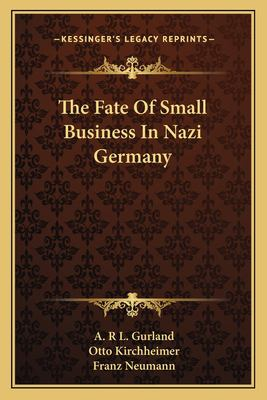The Fate of Small Business in Nazi Germany 9781162990446
