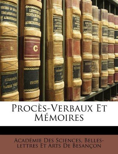 Proc S-Verbaux Et M Moires 9781172847259