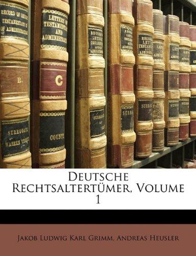 Deutsche Rechtsaltert Mer, Volume 1 9781172855575